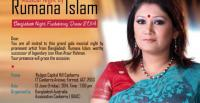 Poster for Bangladeshi singer Rumana Islam's Canberra concert held on 13 June 2014