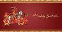 Image: Wedding Invitation (cover of a traditional Bangladeshi wedding invitation card)