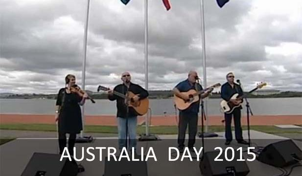 Australian country singer Eric Bogle and his team singing at the Citizenship Ceremony in Canberra [Image: abc.net.au]